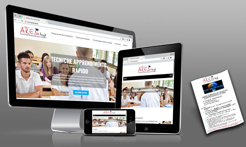 Realizzazione sito e locandine di RG web&grafica perCentro Studi AresTest