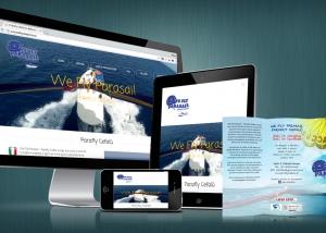 Restyling sito Parafly Cefalù realizzato da RG web&grafica