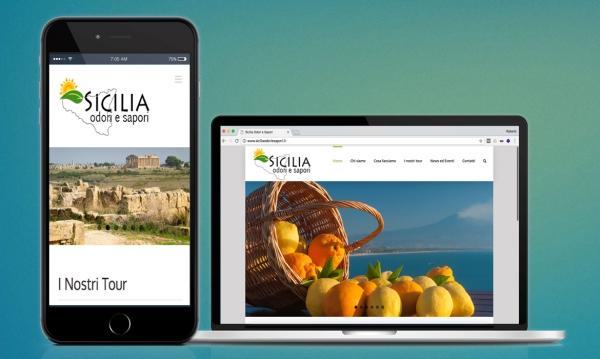 Restyling dei sito Sicilia Odori e Sapori realizzato da RG web&grafica