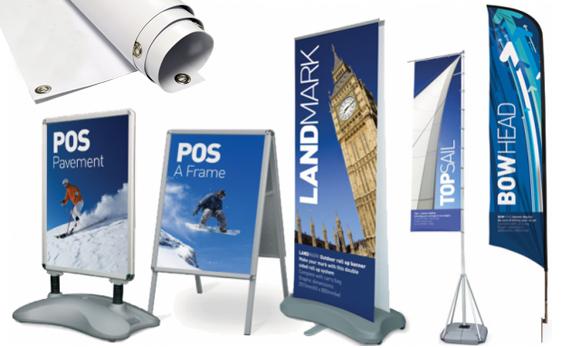 Banner, rollup, bandiere e allestimenti esterni realizzati da RG web&grafica
