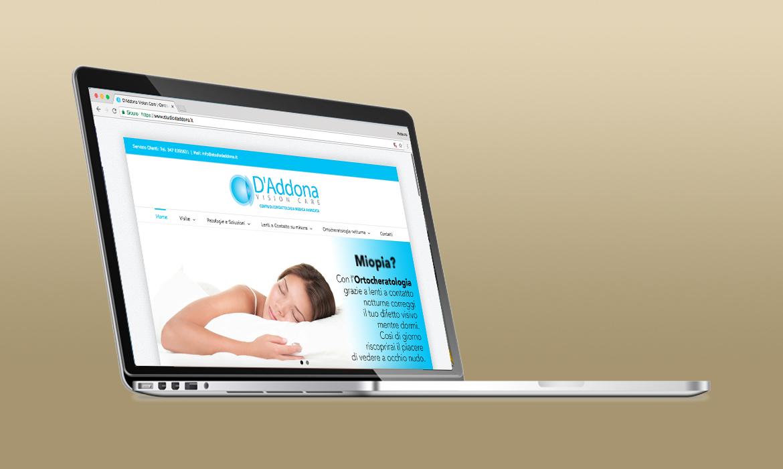 Sito dello Studio D'Addona Vision Care realizzato dal RG web&grafica