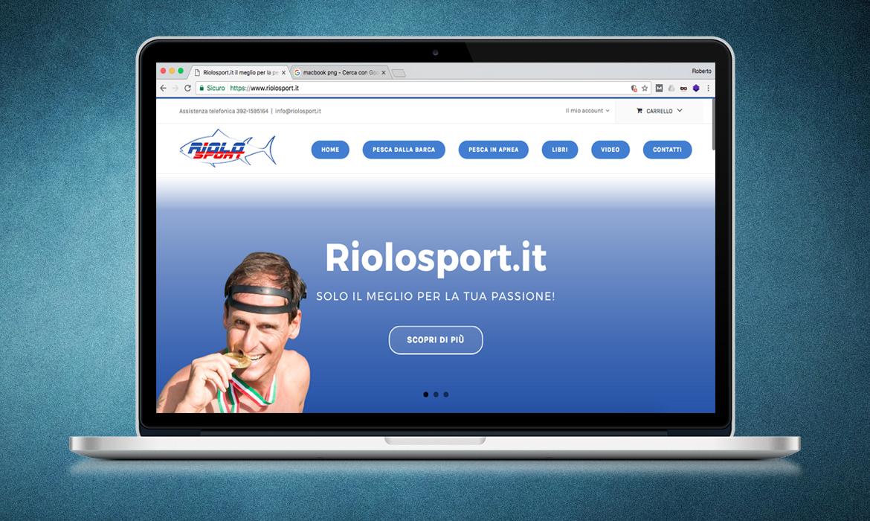 Realizzazione sito Riolosport.it da parte di RG web&grafica