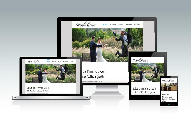Sito di Mimmo Licari Ottica e Fotografia realizzato dal RG web&grafica