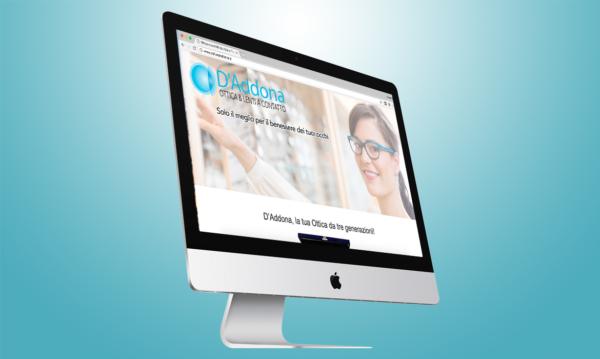 Ottica D'Addona sito realizzato da RG web&grafica